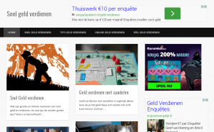 geld verdienen met eigen website